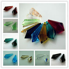 Free TOP 10color #8611 Dazzle Czech Crystal Teardrop Beads findings Pendant 20mm