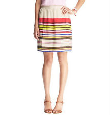 Ann Taylor LOFT Aloha Stripe Full Skirt Size 6 Petite, 6 Regular NWT Capri Cream