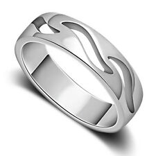 1 PCS Solid Sterling Silver Fashion Hollow Ring Comfort Fit Size 5-8 S#005