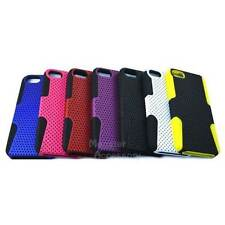 For Apple iPhone 5 5S  Perforated Apex Hard Cover Silicone Soft Case Accessory