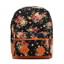 Awesome Stylish Canvas Flower Travel School Book Campus Bag Backpack Rucksack