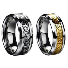 Mens Dragon Scale Ring Rings Jewelry Wedding Band 18K Gold 8 9 10 11 12 13 Hot #