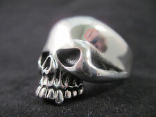 Polished Silver Skull Heavy Ring Harley Biker  Multiple Sizes *USA Seller*
