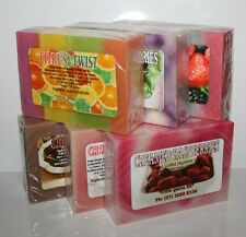 HANDMADE NATURAL SOAP 100G ~ FRUIT SCENTS ~ YOU PICK BERRY COCONUT MANGO CHERRY