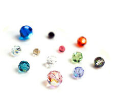 Swarovski Crystal Element 5000 Round  Faceted Bead W/ AB  Many Color & Size #1