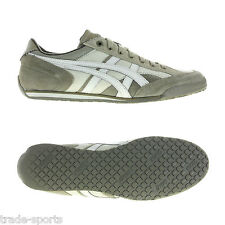 ASICS KENJYUTSU PERF MENS SIZE 6.5 - 10 LEATHER TRAINER LEAD GREY GREEN SHOES