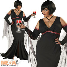 Immortal Seductress Ladies Vampire Fancy Dress Halloween Costume XL UK 16-22