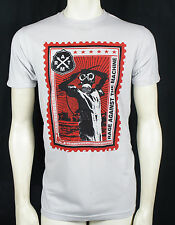 RAGE AGAINST THE MACHINE Postage Stamp Gas Mask Slim Fit T-shirt S M L XL NEW