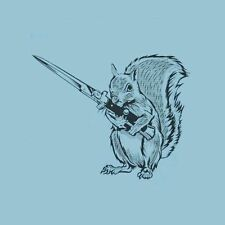 Brand New NUT DEFENDER Squirrel with Switchblade Shirt, Protect Your Nuts, Knife