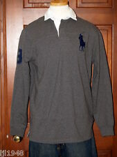 Polo Ralph Lauren Big Polo Pony Gray Rugby Shirt Big Polo Pony S  M L XL NWT