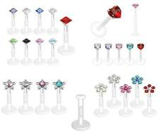 Bio-Flex Labret / Retainer /  Lip Bar / Tragus Earring - 5 Different Styles