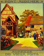 2910.Pont Audemer Auberge  POSTER.French Travel Home Room Office art Decoration