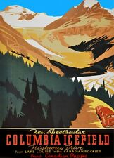 2865.Canadian Icefield Lake Louise Travel POSTER.Home Room Office Wall art decor