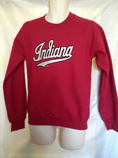 UNIVERSITY OF INDIANA HOOSIERS SWEATSHIRT CURSIVE RED ASST SIZES BRAND NWT 105