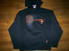 SAN FRANCISCO GIANTS NEW MAJESTIC MLB AC CHANGE UP THERMA BASE HOODED SWEATSHIRT