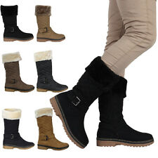 VH3 WOMENS QUILTED LADIES BUCKLE WINTER WARM GRIP SOLE ZIP BOOTS SHOES SIZE 3-8