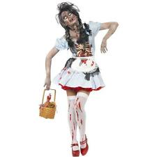 HORROR ZOMBIE DOROTHY HALLOWEEN FANCY DRESS COSTUME DEAD FAIRYTALE OZ LADIES