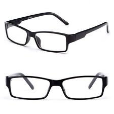 Women Slim Thin Rectangular Frame Clear Lens Fashion Glasses No Prescription