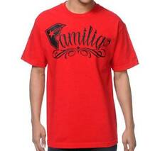 Famous Stars & Straps Familia Family Tee Mens Red T-Shirt NWT New
