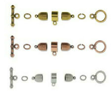 Kumihimo Findings Kit Bullet Style Set, Silver,Gold or Copper, Antique Coated