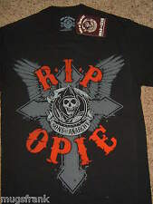 Sons of Anarchy SOA R.I.P. Opie Reaper Black T-Shirt Nwt
