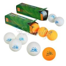 3-18X Double Fish 2-Stars Ping Pong Ball 40mm Table Tennis Training Yellow/White
