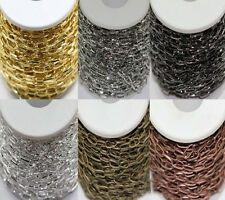 1/10M Silver/Golden Plated Metal Cross Chain 6 Colors U Pick (Ring Size: 10x5mm)