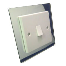 SINGLE LIGHT SWITCH SURROUND MIRROR ACRYLIC PERSPEX FINGER PLATE