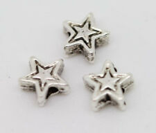 200Pcs Nice Two-sided Tibetan Silver star spacer bead 4x2mm Free Shipping lot