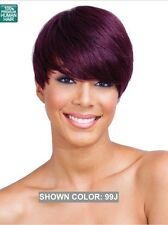 MIDWAY BOBBI BOSS MH1213 HOPE 100% HUMAN HAIR SHORT STRAIGHT TAPPERED STYLE WIG
