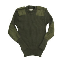 British Army COMMANDO JUMPER All Sizes OLIVE GREEN Military Pullover Sweater Top