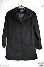Ellen Tracy Women's Angora Wool A-line Coat With Ruched Collar In Black Size 4