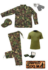 Kids Pack 20 Army Camo Fancy Dress Children's Soldier Outfit (Shirt Pants Jacket