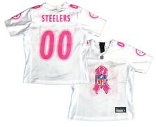 Pittsburgh Steelers Breast Cancer Awareness White/Pink Womens Replica Jersey