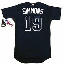 ANDRELTON SIMMONS AUTHENTIC ATLANTA BRAVES MAJESTIC MLB COOL BASE JERSEY NEW