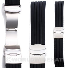 High Quality Black Silicone Rubber Watch Band Strap variation uk
