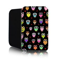 'CUTE OWLS'  Retro Tablet Case for TESCO HUDL Neoprene Pouch Cover hudle UK (HD)