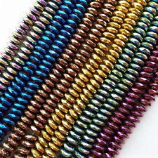 DJ-45 7x3mm Beautiful Different Clour Hematite Rondelle Loose Bead 15.5inch