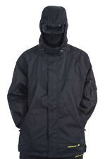 Location Mens Visor Balaclava Rain Hooded Jacket Waterproof Black School Coat