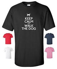 KEEP CALM AND WALK THE DOG FUNNY T-SHIRT MENS WOMENS CHILDRENS SIZES PETS