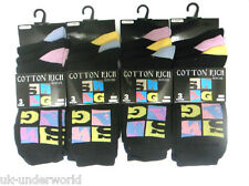 MENS ADULTS 6 OR 12 PAIRS SWAG SQUARE DESIGN SUIT GOLF COTTON RICH SOCKS 6-11