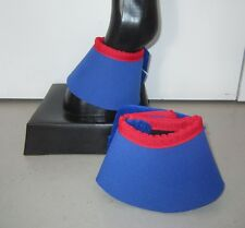 Horse Bell or Overreach Boots Royal blue & Red AUSTRALIAN MADE Protection