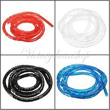 1/2/5/10M Spiral Wire Wrap Tube Manage Cord for PC Computer Home Cable 4-50MM
