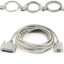 Superb Quality Null Modem DB9F/DB25M Molded Cable Connecting Two PC Serial Ports