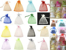 100 PCS Jewellry Organza Charm Pouch Wedding Favours Gift Bags 7x 9cm