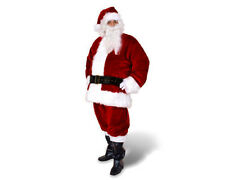 PROFESSIONAL FULLY LINED SANTA CLAUS CHRISTMAS XMAS CRIMSON RED COSTUME SUIT NEW