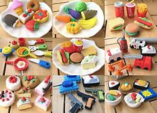 New Set Food Rubber Pencil Eraser Various Assorted Stationery Student Rewards