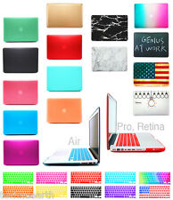 Hard Rubberized Case + Keyboard Cover For NEW 12 MacBook Pro Air 13 11 15 Retina