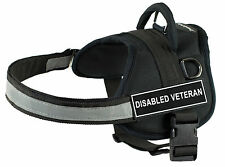 DT Works Dog Harness Nylon with Velcro Patches DISABLED VETERAN