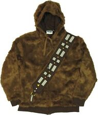 Star Wars I AM Chewbacca Wookie Costume Licensed Zip Up Furry Hoodie S-XXL